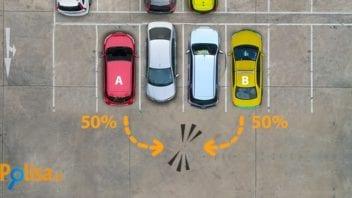 Катастрофа при заден ход на паркинг