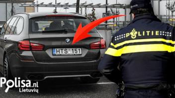 Reidas transporto priemonėms su Lietuviškais valstybiniais numeriais Nyderlanduose